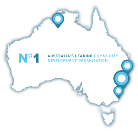 Connections Community Development - Map of Australia