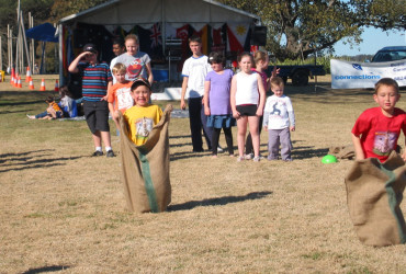 Connections Community Development:  Jumping Sack Race